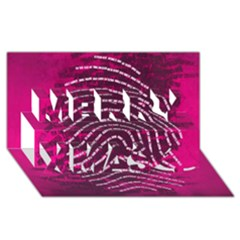 Above & Beyond Sticky Fingers Merry Xmas 3d Greeting Card (8x4) by Onesevenart