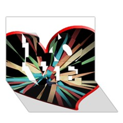 Above & Beyond Love 3d Greeting Card (7x5) by Onesevenart