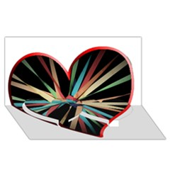 Above & Beyond Twin Heart Bottom 3d Greeting Card (8x4) by Onesevenart
