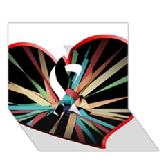 Above & Beyond Ribbon 3d Greeting Card (7x5) by Onesevenart