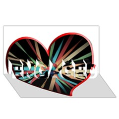 Above & Beyond Engaged 3d Greeting Card (8x4) by Onesevenart
