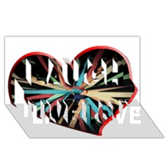 Above & Beyond Laugh Live Love 3d Greeting Card (8x4) by Onesevenart