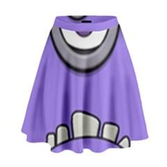 Evil Purple High Waist Skirt by Onesevenart