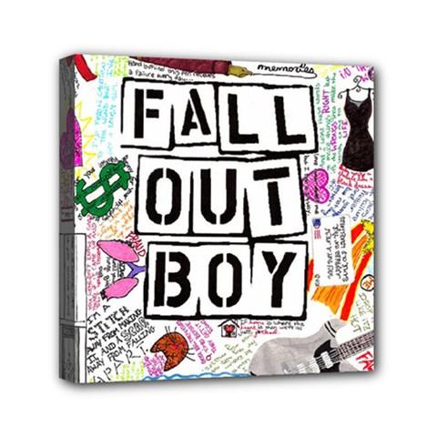 Fall Out Boy Lyric Art Mini Canvas 6  X 6  by Onesevenart
