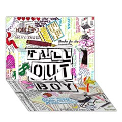 Fall Out Boy Lyric Art I Love You 3d Greeting Card (7x5) by Onesevenart