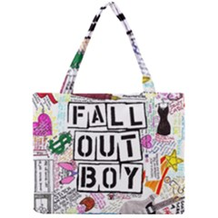 Fall Out Boy Lyric Art Mini Tote Bag by Onesevenart