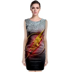Grunge Flash Logo Classic Sleeveless Midi Dress by Onesevenart