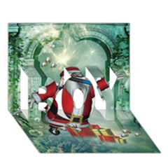 Funny Santa Claus In The Underwater World Boy 3d Greeting Card (7x5) by FantasyWorld7