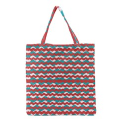 Geometric Waves Grocery Tote Bag by dflcprints