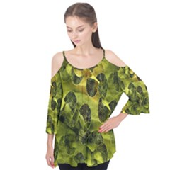 Olive Seamless Camouflage Pattern Flutter Tees by Zeze
