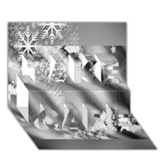 Christmas Background TAKE CARE 3D Greeting Card (7x5) by Zeze