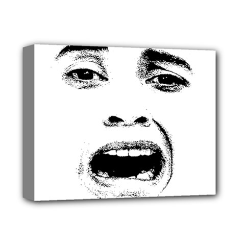 Scared Woman Expression Deluxe Canvas 14  X 11  by dflcprints