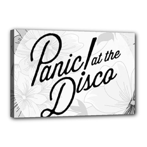 Panic At The Disco Flowers Canvas 18  X 12  by Onesevenart