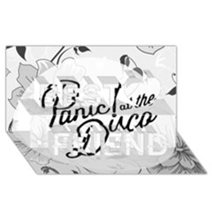 Panic At The Disco Flowers Best Friends 3D Greeting Card (8x4) by Onesevenart