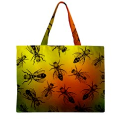 Insect Pattern Zipper Mini Tote Bag by Onesevenart