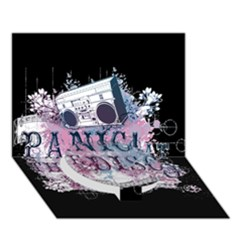 Panic At The Disco Art Circle Bottom 3d Greeting Card (7x5) by Onesevenart