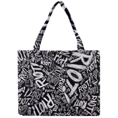 Panic At The Disco Lyric Quotes Retina Ready Mini Tote Bag by Onesevenart