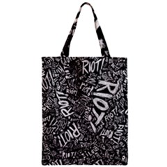 Panic At The Disco Lyric Quotes Retina Ready Zipper Classic Tote Bag by Onesevenart