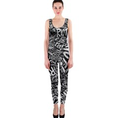 Panic At The Disco Lyric Quotes Retina Ready Onepiece Catsuit by Onesevenart
