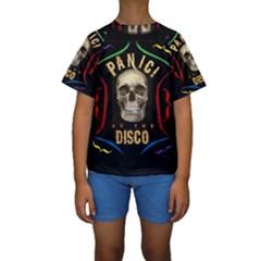 Panic At The Disco Poster Kids  Short Sleeve Swimwear by Onesevenart