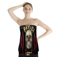 Panic At The Disco Poster Strapless Top by Onesevenart