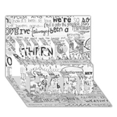Panic At The Disco Lyrics Work Hard 3d Greeting Card (7x5) by Onesevenart