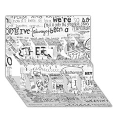 Panic At The Disco Lyrics Get Well 3d Greeting Card (7x5) by Onesevenart