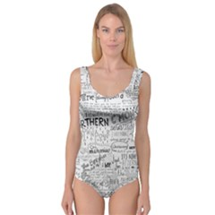 Panic At The Disco Lyrics Princess Tank Leotard  by Onesevenart