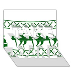 Humping Reindeer Ugly Christmas Take Care 3d Greeting Card (7x5) by Onesevenart