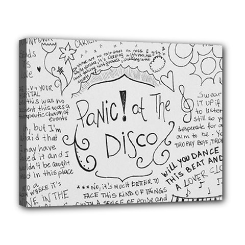 Panic! At The Disco Lyrics Canvas 14  X 11  by Onesevenart