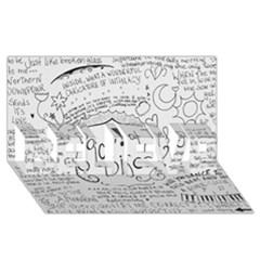 Panic! At The Disco Lyrics Believe 3d Greeting Card (8x4) by Onesevenart