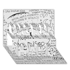 Panic! At The Disco Lyrics Work Hard 3d Greeting Card (7x5) by Onesevenart