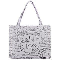 Panic! At The Disco Lyrics Mini Tote Bag by Onesevenart