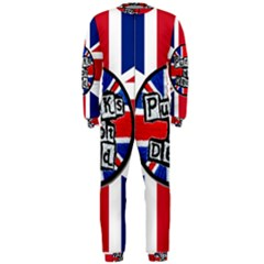 Punk Not Dead Music Rock Uk United Kingdom Flag OnePiece Jumpsuit (Men)  by Onesevenart