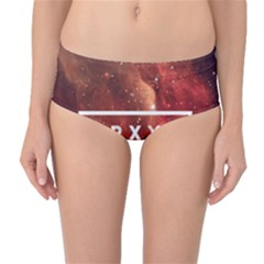 Trxye Galaxy Nebula Mid Waist Bikini Bottoms by Onesevenart
