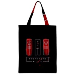 Twenty One Pilots Zipper Classic Tote Bag by Onesevenart