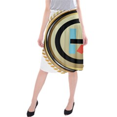 Twenty One Pilots Shield Midi Beach Skirt by Onesevenart