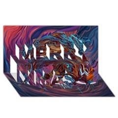 Voodoo Child Jimi Hendrix Merry Xmas 3d Greeting Card (8x4) by Onesevenart