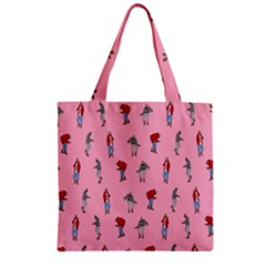 Hotline Bling Pattern Zipper Grocery Tote Bag by Onesevenart