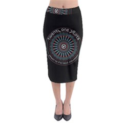 Twenty One Pilots Power To The Local Dreamder Midi Pencil Skirt by Onesevenart