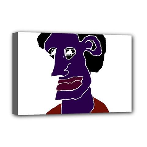 Man Portrait Caricature Deluxe Canvas 18  X 12   by dflcprints
