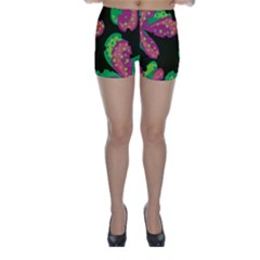 Colorful Leafs Skinny Shorts by Valentinaart
