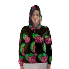 Colorful leafs Hooded Wind Breaker (Women) by Valentinaart