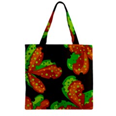 Autumn Leafs Zipper Grocery Tote Bag by Valentinaart