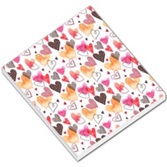 Colorful Cute Hearts Pattern Small Memo Pads by TastefulDesigns