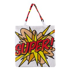 Comic Book Super! Grocery Tote Bag by ComicBookPOP