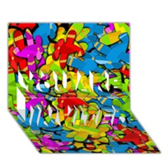 Colorful airplanes YOU ARE INVITED 3D Greeting Card (7x5) by Valentinaart