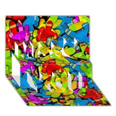 Colorful Airplanes Miss You 3d Greeting Card (7x5) by Valentinaart