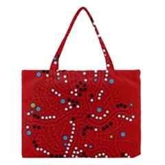 Red Fantasy Medium Tote Bag by Valentinaart