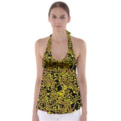 Yellow Emotions Babydoll Tankini Top